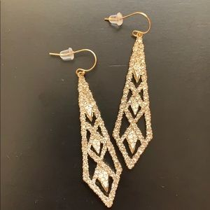 Alexis Bittar gold geometric earrings